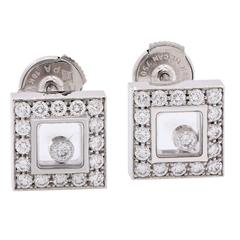 Chopard Happy Diamonds White Gold Earrings