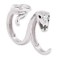 Boucheron Kaa Double Trouble Diamond White Gold Ring