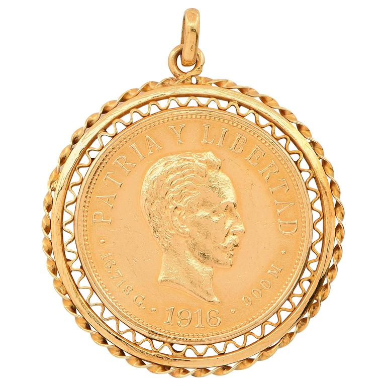 yellow shop coin pendant krugerrand south african oz sku gold