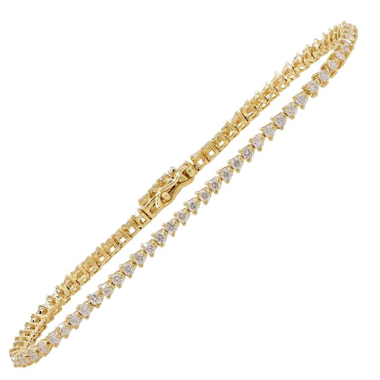 1 Carat Three Prong Set Diamond Tennis Bracelet