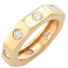 .80 Carat Diamond 18 Karat Yellow Gold Wedding Band