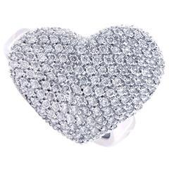 Georgio Visconti 1.10 Carat Diamond Heart Shaped White Gold Ring