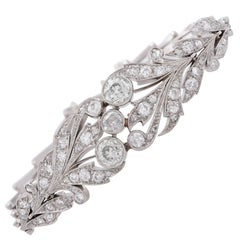 Garland Style Diamond Palladium Bracelet