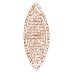 2.8 Carat Diamond Marquise Shape Rose Gold Pendant
