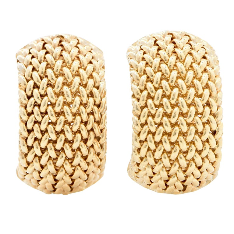 Chainmail Gold Earclips