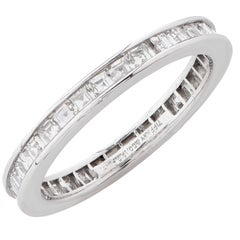 Tiffany & Co. Square Diamond Platinum Eternity Band
