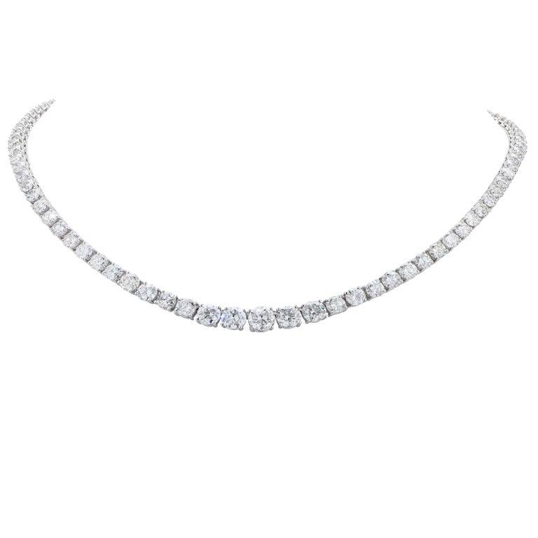 24 Carat Diamond Riviera Platinum Necklace