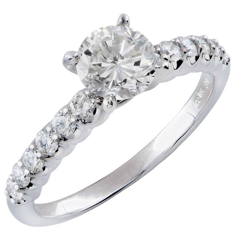 .87 Carat Round Brilliant Cut Diamond Engagement Ring