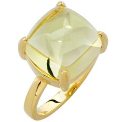 Tiffany & Co. Paloma Picasso Sugar Stacks Citrine 18 Karat Yellow Gold Ring