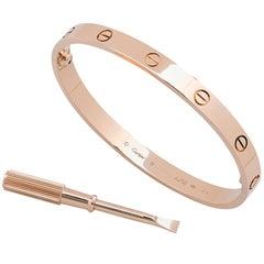 Cartier Love Bangle Bracelet in 18 Karat Rose Gold