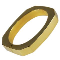 Italian 18 Karat Yellow Gold Bangle Bracelet Circa 1980