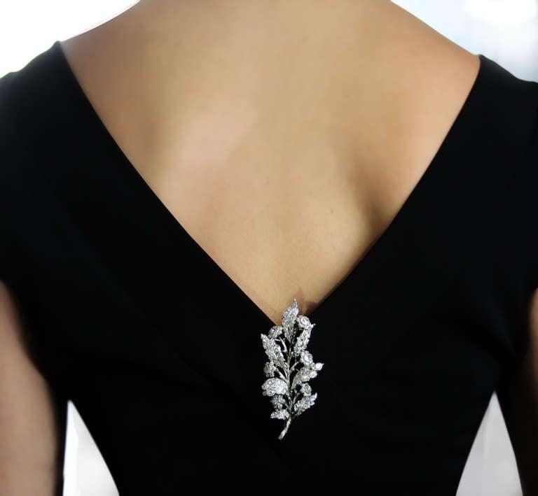 1930s 4 Carat Buccellati Diamond Brooch 3