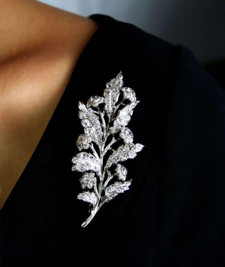 1930s 4 Carat Buccellati Diamond Brooch 2