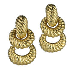 1980s Door Knocker Earrings