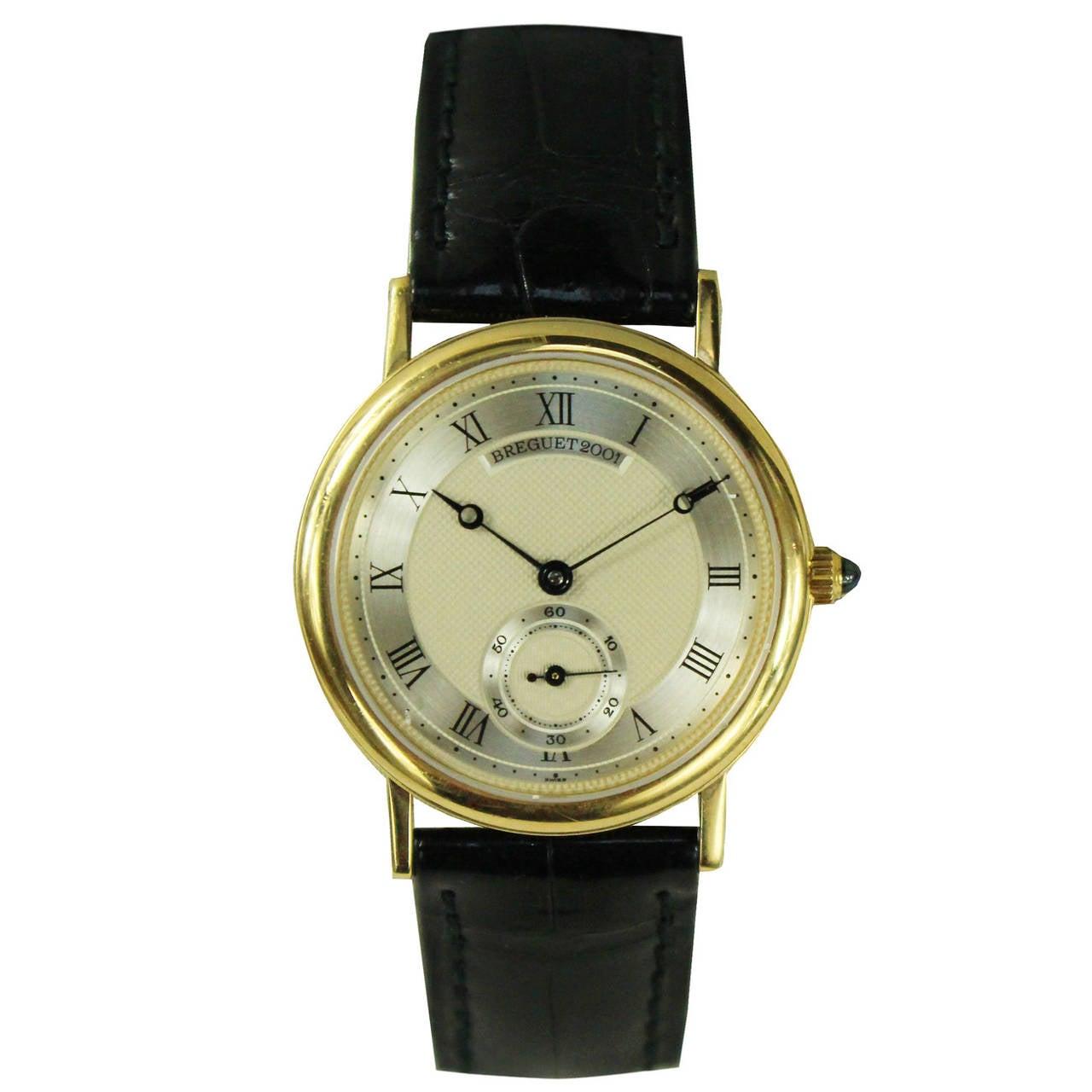 Breguet Yellow Gold Classique Manual Wind Wristwatch