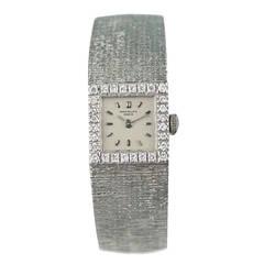 Patek Philippe Lady's White Gold Diamond Bracelet Watch circa 1970s