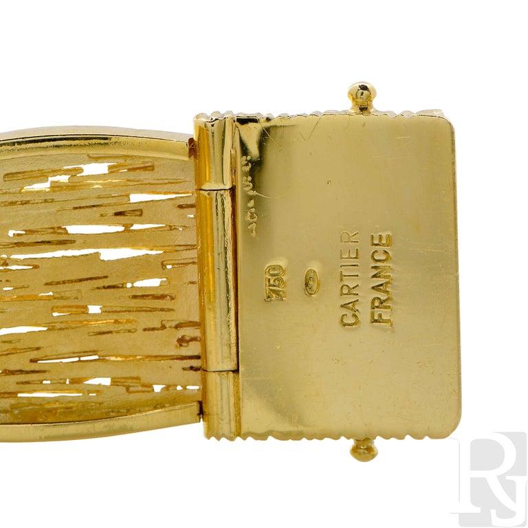 Cartier Wheat Motif 18 Karat Yellow Gold Bracelet For Sale 1