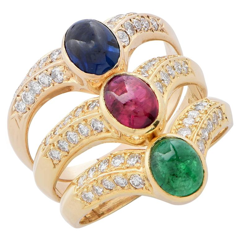 style yellow listing ladies emerald il fullxfull cluster sapphire diamond high cocktail fashion ring ruby gold