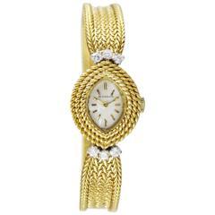 Lady's Yellow Gold Diamond Movado Movement Wristwatch