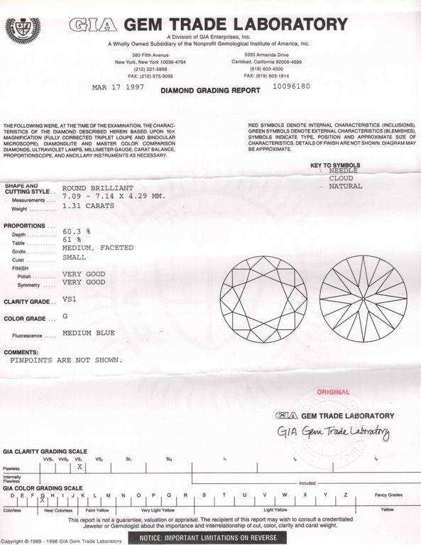 2.64 Carat GIA Certified Diamond Platinum Stud Earrings 6
