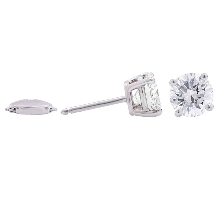 2.64 Carat GIA Certified Diamond Platinum Stud Earrings In Excellent Condition For Sale In Coral Gables, FL