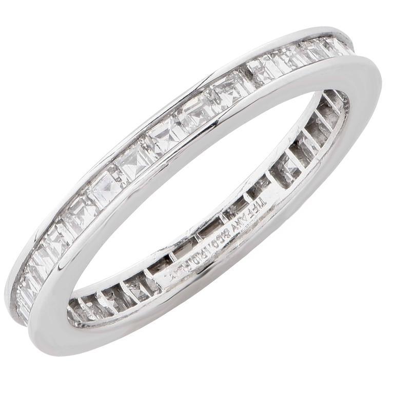 Tiffany & Co. 1.20 Carats Diamond Platinum Eternity Band 4
