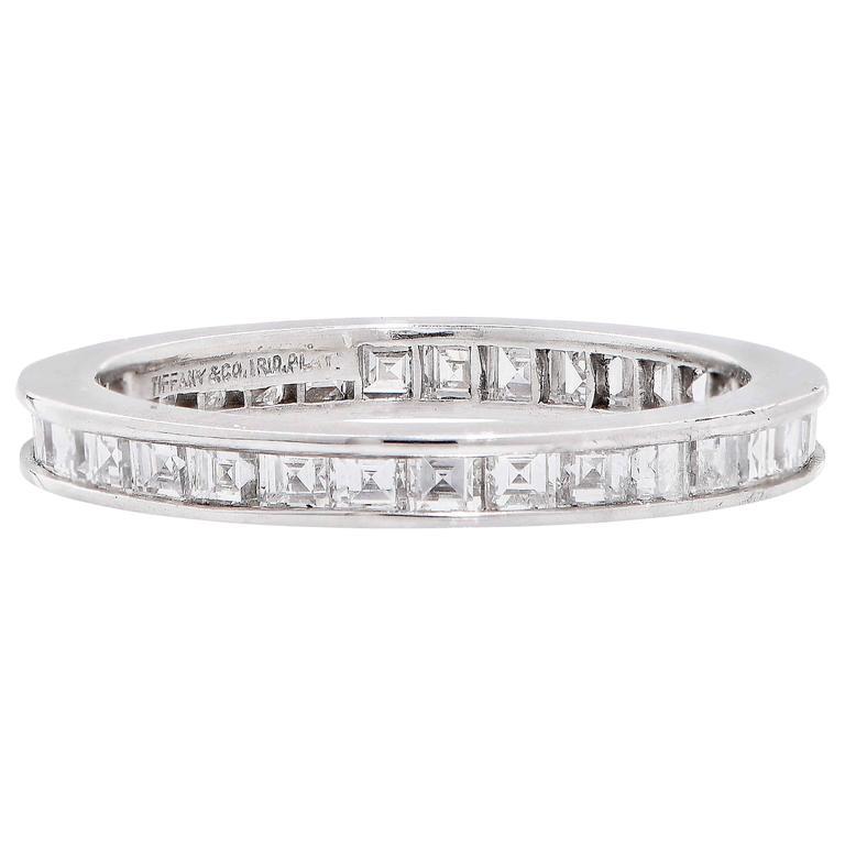 Tiffany & Co. 1.20 Carats Diamond Platinum Eternity Band 3