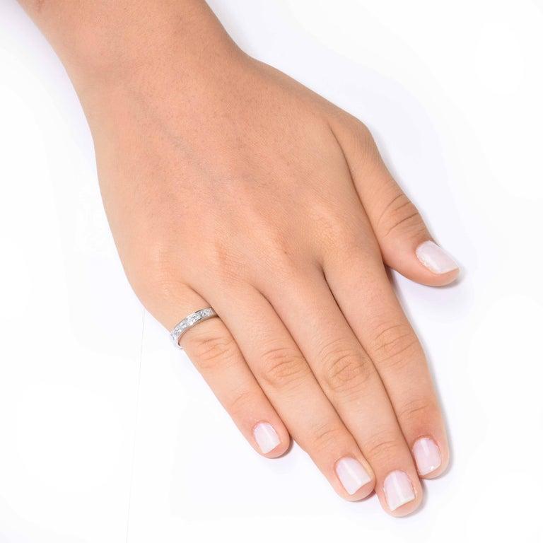 Tiffany & Co. 1.20 Carats Diamond Platinum Eternity Band 2