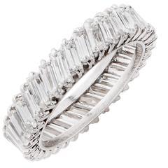 3.5 Carat Diamond Platinum Eternity Band