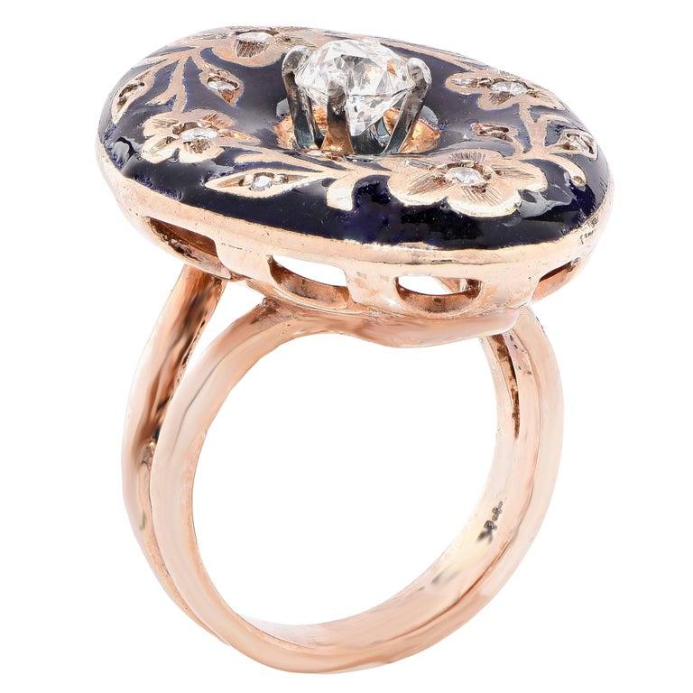 enamel gold ring for sale at 1stdibs