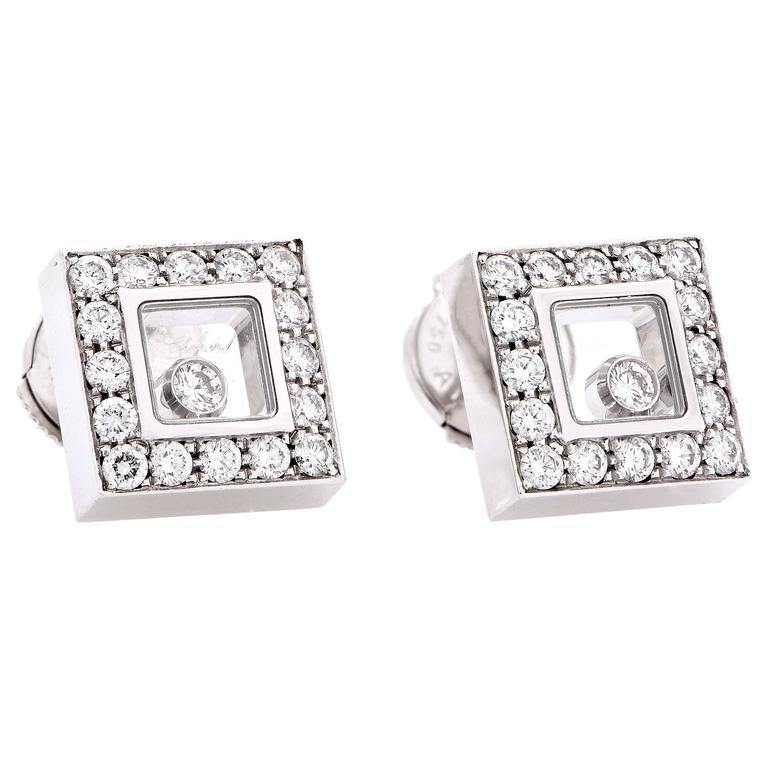 Chopard Happy Diamonds White Gold Earrings 2