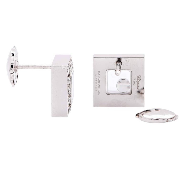 Chopard Happy Diamonds White Gold Earrings 3
