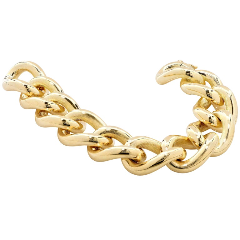Yellow Gold Flexible Link Bracelet