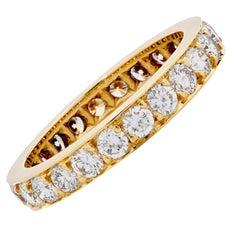 1.7 Carat Diamond Eternity Band 18 Karat Yellow Gold