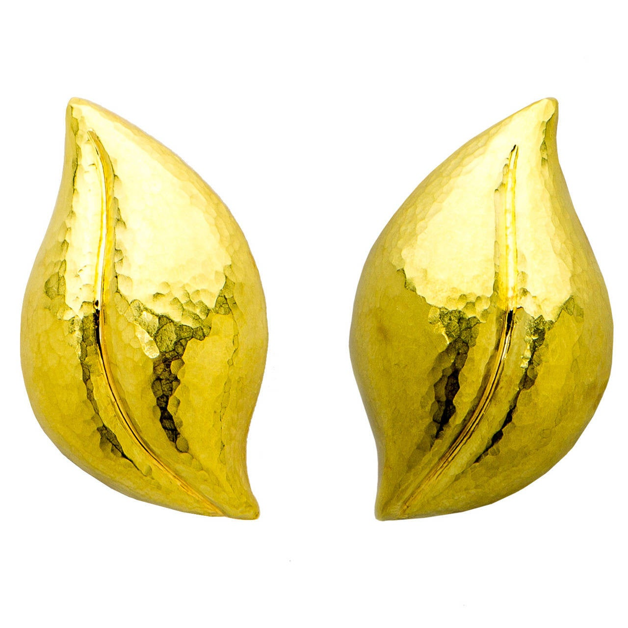 Tiffany & Co. Paloma Picasso Gold Leaf Earrings For Sale