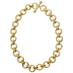 Elizabeth Locke Ravenna Gold Link Necklace