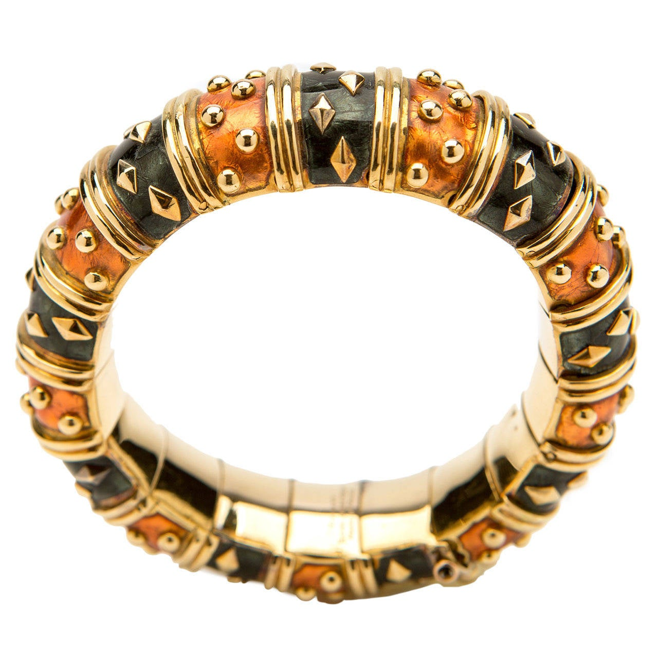 j and co jewelry and co schlumberger enamel gold bracelet for sale 9315