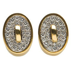 Angela Cummings Diamond Gold Earrings
