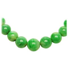GIA Certified Natural Jadeite Necklace