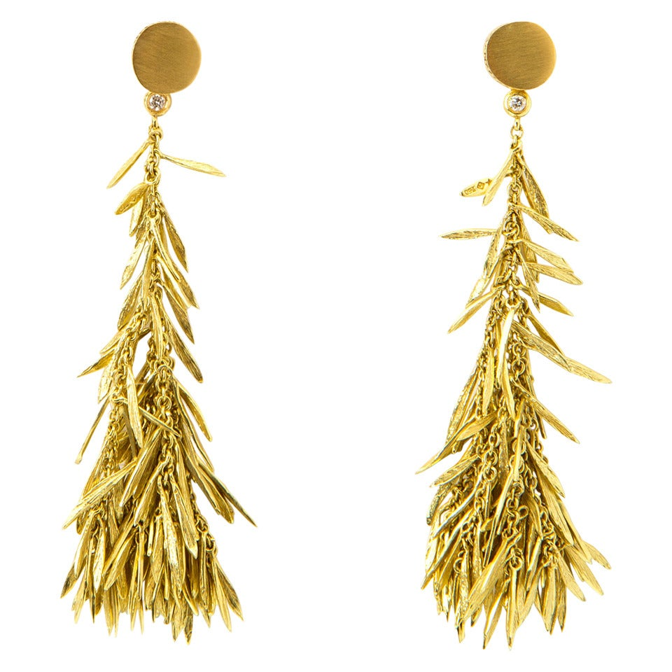 H Stern Gold Feather Earrings At 1stdibs