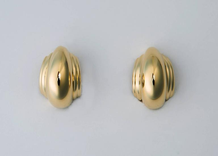 Tiffany & Co. Paloma Picasso Domed Gold Earrings 2