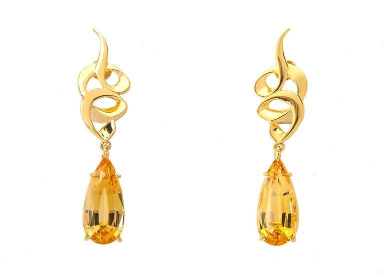 Contemporary Paloma Picasso for Tiffany & Co. Precious Topaz Earrings For Sale
