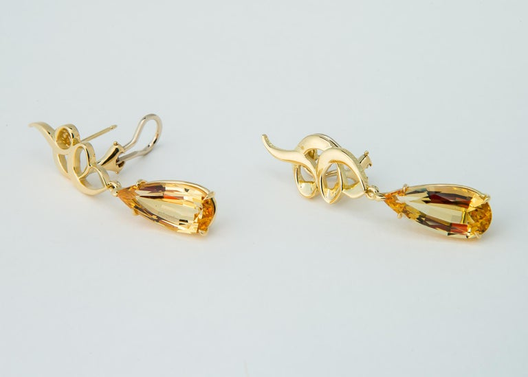Paloma Picasso for Tiffany & Co. Precious Topaz Earrings In Excellent Condition For Sale In Atlanta, GA