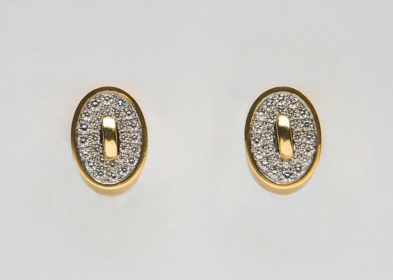 Contemporary Angela Cummings Diamond Gold Earrings For Sale