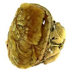 Amber Gold Bangle Bracelet