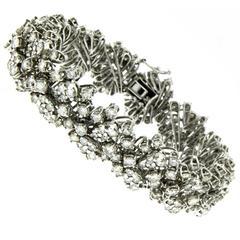 Estate 18 Carat Diamonds Gold Bracelet