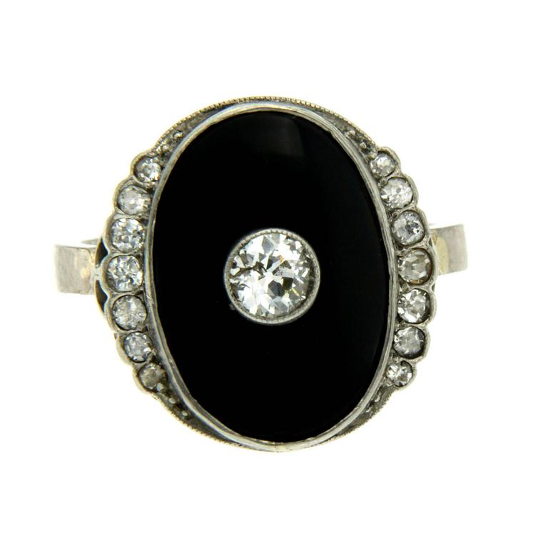 Art deco yx Diamond Gold Ring For Sale at 1stdibs