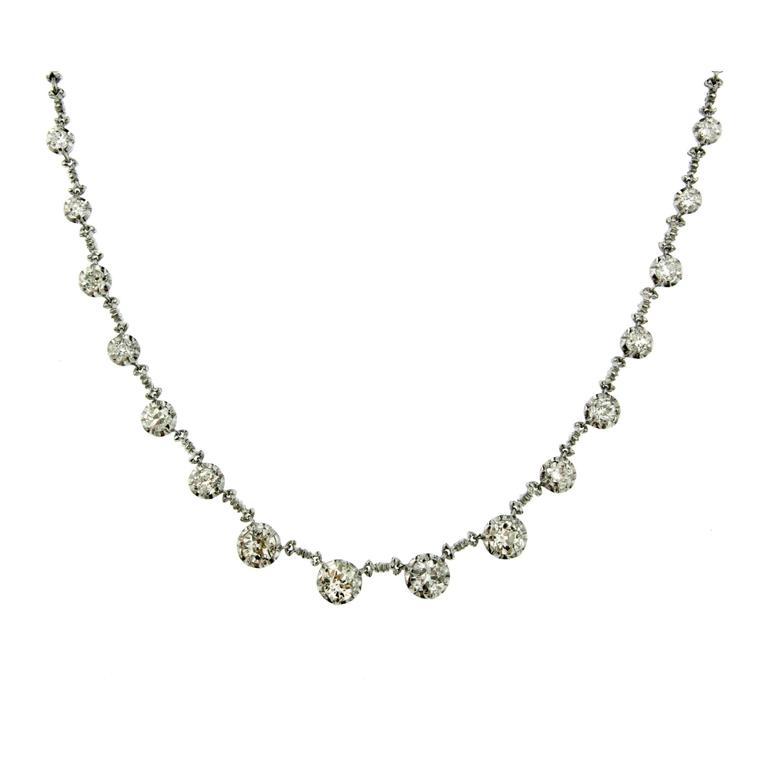 5.00 Carat Diamond Gold Necklace