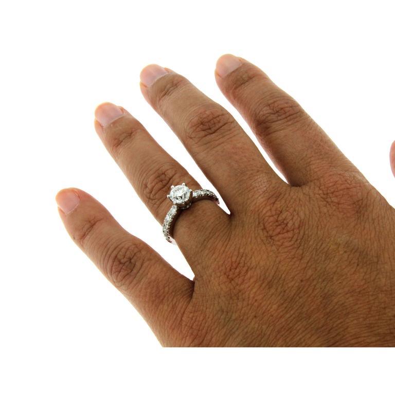 1 Carat IGI Cert Diamond Gold Engagement Ring 2