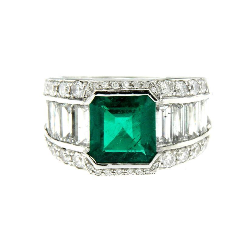 3 00 carat emerald gold ring at 1stdibs